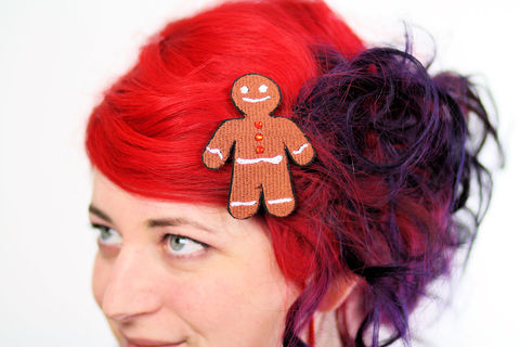 Gingerbread,Man,Hair,Clip,,Christmas,Barrette,,Brown,with,Orange,Rhinestones,Accessories,Clip,women,hair_barrette,christmas_hair_clip,hairclip,christmas_barrette,rhinestones,sparkly_hair_clip,janinebasil,xmas_hair_clip,gingerbread_man,gingerbread_man_clip,cute_hair_clip,orange_hair_clip,polyester_felt,rayon_thread,elastic