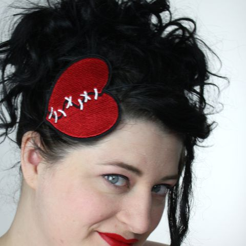 Stitched,Up,Broken,Heart,,Pink,or,Red,Accessories,Hair,Headband,women,heart,broken_hearted,mended_heart,broken_heart,anti_valentine,heart_headband,hot_pink_heart,turquoise,pink_heart_headband,stitched_heart,elastic_headband,women_headband,polyester_felt,rayon_thread,elastic