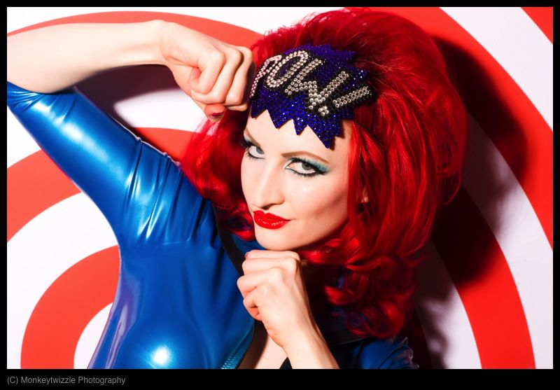 POW Fascinator Rhinestone, Comic Book Fascinator - product images  of