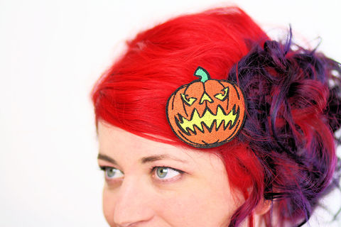 Jack,O,Lantern,Hair,Clip,,Pumpkin,,Halloween,Barrette,,Orange,and,Yellow,Accessories,Clip,women,janine_basil,hair_clip,barette,hair_barrette,cute_barrette,jack_o_lantern,pumpkin,halloween,halloween_hair_clip,pumpkin_hair_clip,halloween_barrette,orange,polyester_felt,rayon_thread,elastic