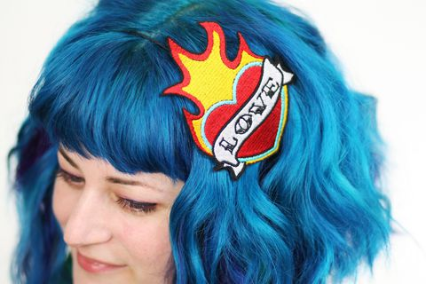 Love,Tattoo,Headband,,Flaming,Heart,,Valentine,Red,,Yellow,Accessories,Hair,Headband,women,headband,janine_basil,tattoo,retro,fire_red,bright_yellow,love,valentine_heart,valentine_headband,love_headband,heart_headband,Flaming_heart,polyester_felt,rayon_thread,elastic