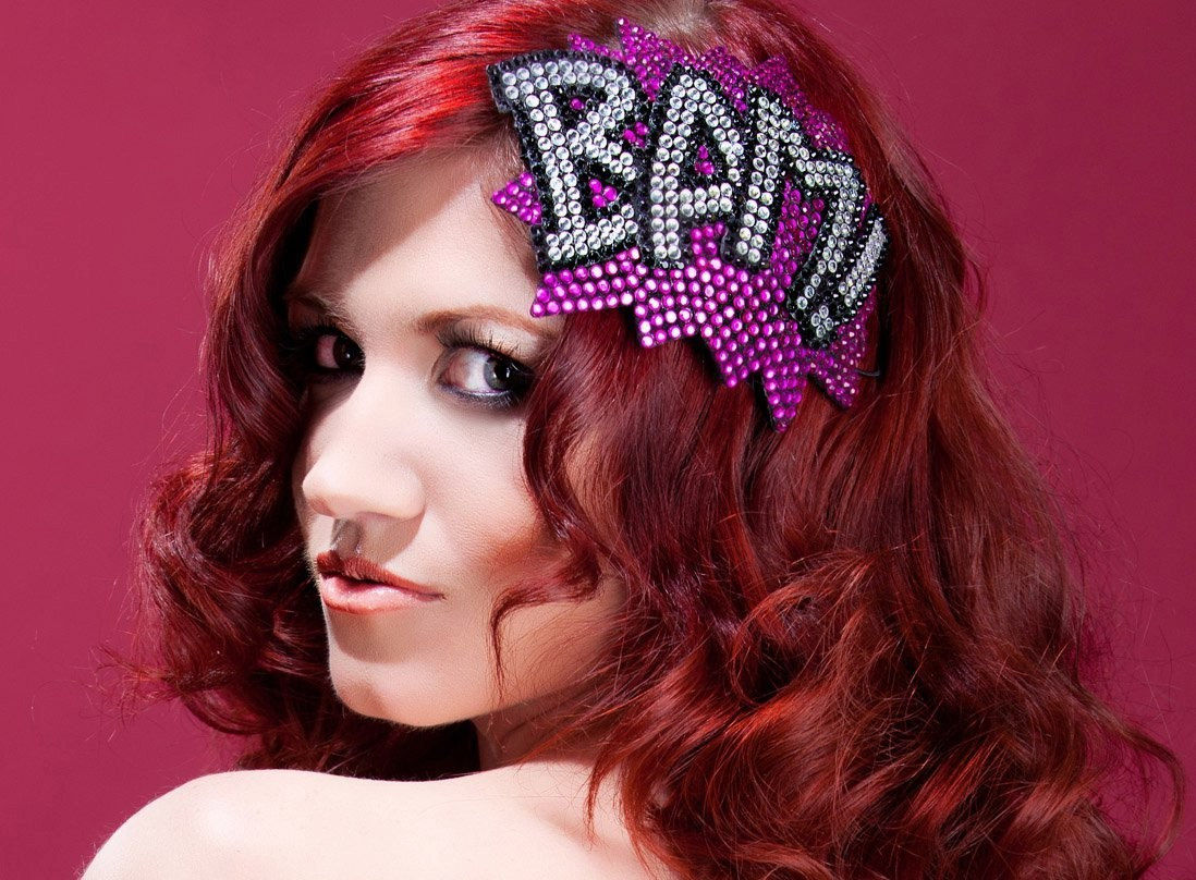 BAM Fascinator Rhinestone, Comic Book Fascinator - product images  of