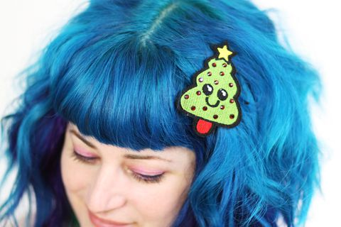Christmas,Tree,Hair,Clip,,Barrette,,Kawaii,,Green,With,Red,Rhinestones,Accessories,Clip,women,hair_barrette,christmas_hair_clip,hairclip,christmas_barrette,rhinestones,sparkly_hair_clip,janinebasil,christmas_tree,xmas_tree_hair_clip,green,xmas_hair_clip,red,polyester_felt,rayon_thread,elastic