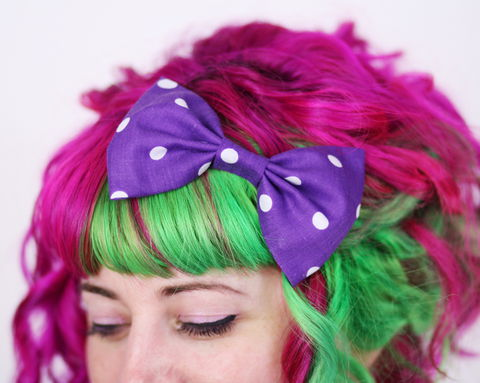 Polka,Dot,Hair,Bows,Hair Bow, hair clip, spots, polka dots