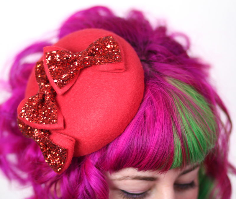 Triple Bow Hat, Glitter Bows, Various Colours - product images  of