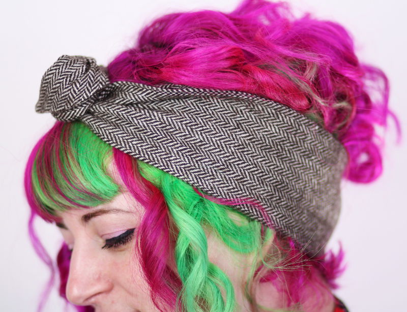 Wool Ear Warmer Winter Headband, Wired Hair Band, Various Colours - product images  of