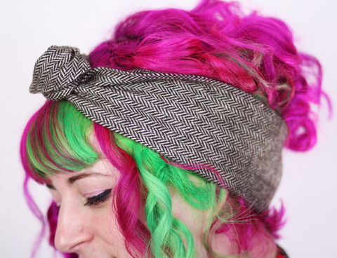 Wool,Ear,Warmer,Winter,Headband,,Wired,Hair,Band,,Various,Colours,dolly bow headband, wired, tie hair band