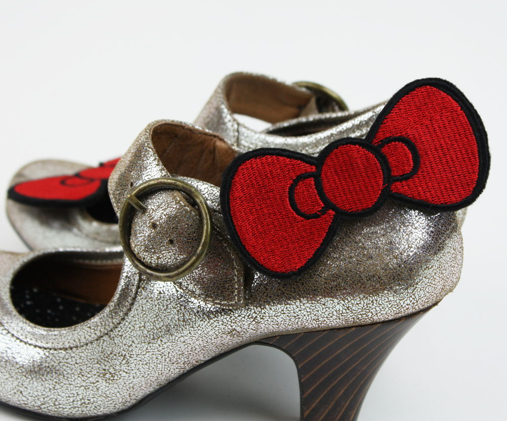 Bow Shoe Clips, Cute Bow - product images  of