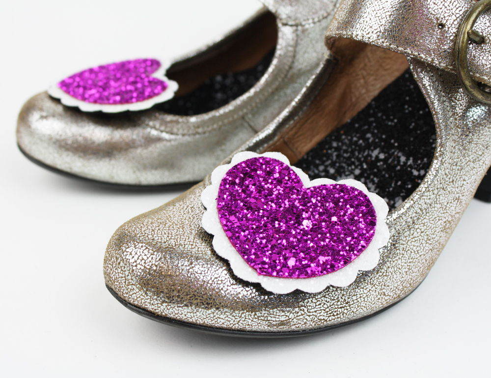 Glitter Heart Shoe Clips - product images  of