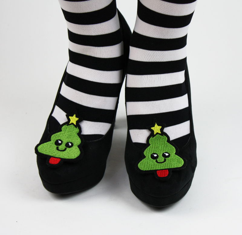 Christmas Tree Shoe Clips, Xmas Shoe Accessories - product images  of