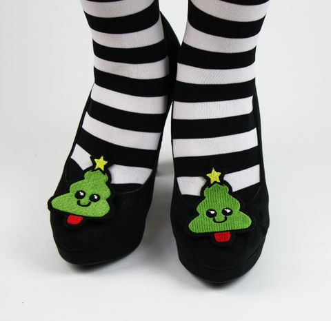 Christmas,Tree,Shoe,Clips,,Xmas,Accessories,shoe clips, geek, cute