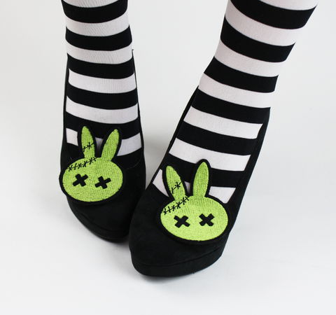 Zombie,Bunny,Shoe,Clips,,Animal,shoe clips, geek, cute