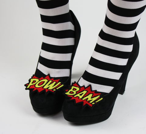 Bam,and,Pow,Shoe,Clips,,Comic,Blasts,shoe clips, geek, cute
