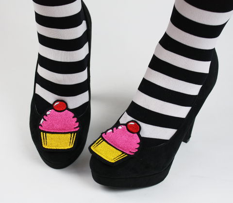Cupcake,Shoe,Clips,,Kawaii,Clips,shoe clips, geek, cute