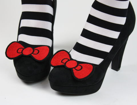 Bow,Shoe,Clips,,Cute,shoe clips, geek, cute