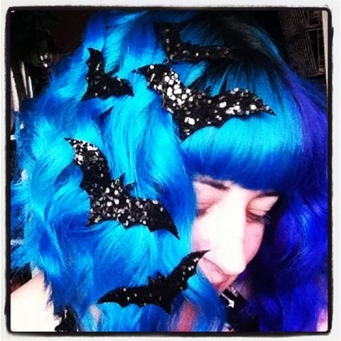 Bat,Hair,Adornments,,Halloween,Accessory,,Glitter,stars hair accessories, glitter, halloween, halloween accessories