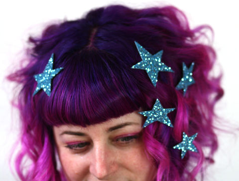 Star,Hair,Adornments,,Accessory,,Glitter,stars hair accessories, glitter, halloween, halloween accessories