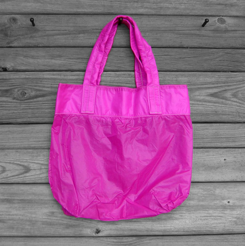 Parachute,Bag,Re-purposed,Dark,Pink,Slider,nylon ripstop, parachute bag, dark pink tote
