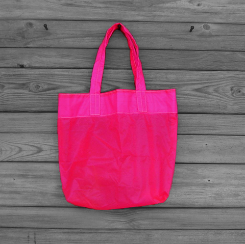 Tote,Bag,Neon,Pink,Parachute,Slider,Water,Resistant,Zero,Porosity,Ripstop,Nylon,parachute bag, slider bag, nylon ripstop, medium tote bag