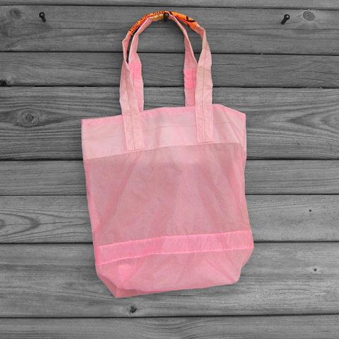 Small,Light,Pink,Market,Tote,Parachute,Slider,Bag,parachute bag, nylon ripstop, light pink, market tote