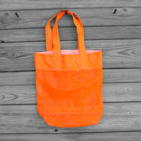 Parachute,Bag,:,Tote,Small,Neon,Orange,Slider,parachute bag, slider tote, fliteline, nylon ripstop