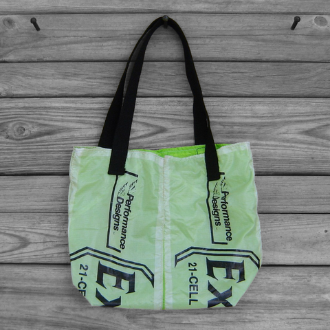 Small,Parachute,Tote,Bag,:,Neon,Green,Excalibur,Logo,Panels