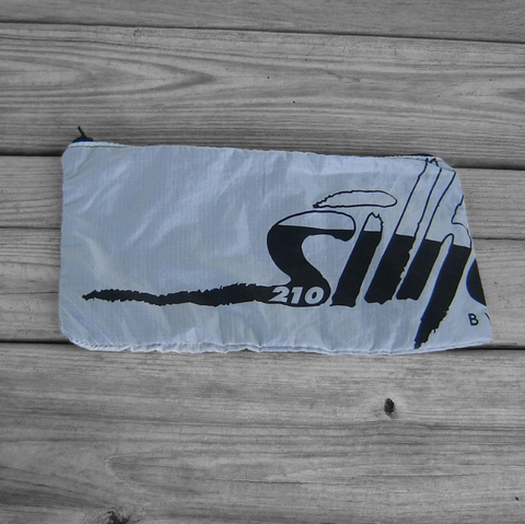 Zipper,Pouch,with,Silhouette,Logo,Label,and,Black,parachute logo, zipper pouch, warning label