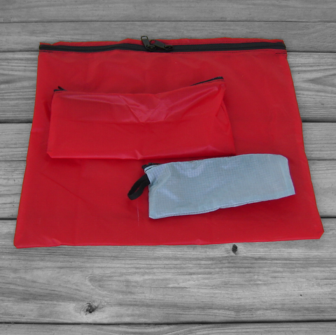 Zipper,Pouches:,Red,and,Gray,Parachute,Ripstop