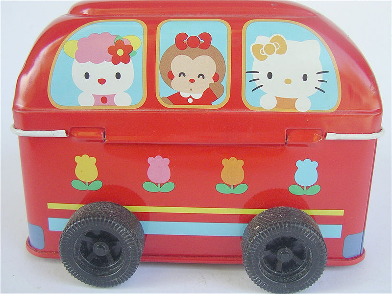 Japanese Hello Kitty Toys : Vintage hello kitty bus red toy school