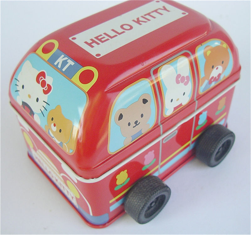 Vintage Hello Kitty Bus Red Toy Bus Red School Bus Vintage Sanrio Bus Red Tin Can Vintage Red Car Kawaii Red Bus Vintage Japanese Kawaii - product images  of