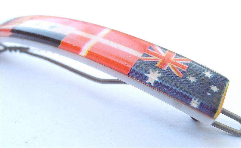 Vintage Kawaii Barrette Flag Barrette International Flag Hair Clip Kawaii Hair Clip Japanese Kawaii Hair Pin Multicolor Kawaii Bobby Pin - product images  of