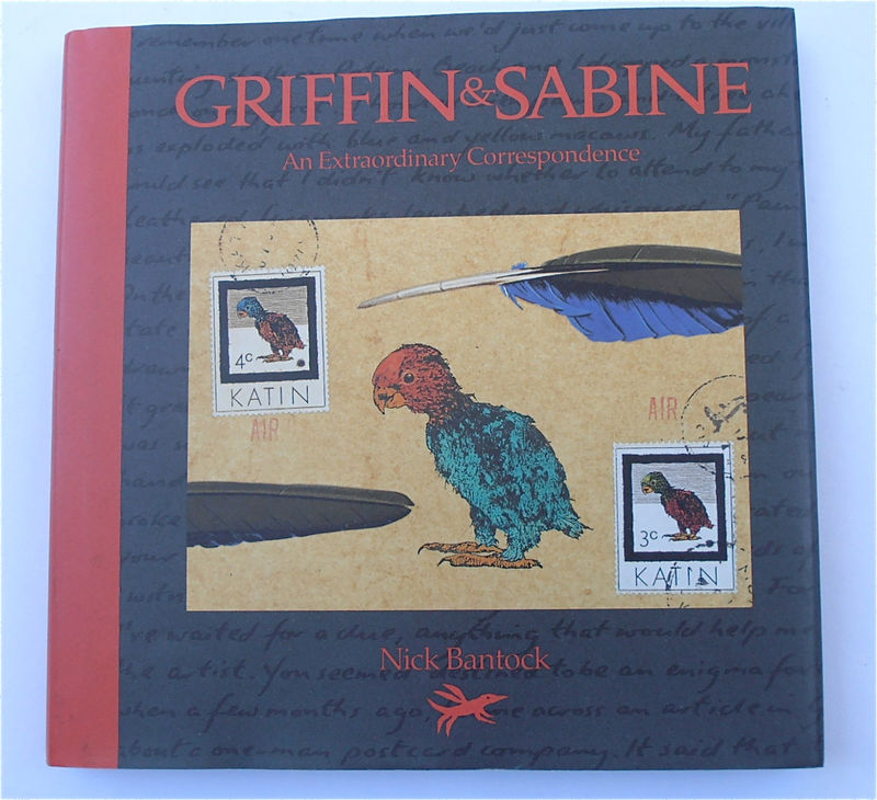 Vintage 1991 Griffin and Sabine Hardcover Book Nick Bantock Collectible Illustration Art Postcards Love Letters Extraordinary Epistolary - product images  of