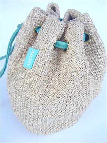 Vintage,Beige,Teal,Purse,Woven,Bag,Drawstring,Pouch,Hermes,Amazone,Perfume,Gift,Rare,Turquoise,Makeup,Cosmetic,Travel,Toiletry,teal beige purse string bag, vintage beige purse, vintage woven drawstring purse, vintage drawstring pouch, vintage amazon pouch, vintage hermes amazon hermes, amazone gift bag, vintage turquoise, turquoise bag, vintage amazon perfume bag, villacollezione