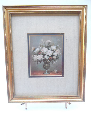Vintage,Floral,Print,Flower,Picture,Bronze,Matted,Frame,Framed,Gold,Paint,Wood,Country,Home,Rustic,Decor,wall hanging picture frame, gold wood frame, floral matted print, flower bouquet print, floral shabby cottage chic, autumn flower print, bronze matted picture, matted picture frame, flower print framed picture, gold paint wood frame, fall floral print