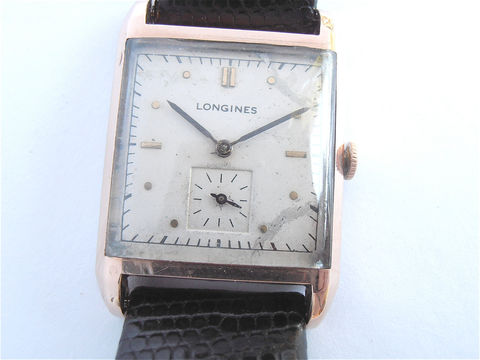 Non,-,Working,Vintage,50s,Longines,Tank,Watch,Mens,Dress,Wrist,Swiss,Rose,Gold,Plated,Time,Piece,19mm,Lizard,Leather,Band,Rare,Hard,To,Find,vintage longines tank watch, vintage longines mens dress watch, 50s longines watch, rose gold longines watch, longines pink gold watch, villa collezione, villacollezione, genuine longines watch, authentic longines watch, rare vintage longines watch