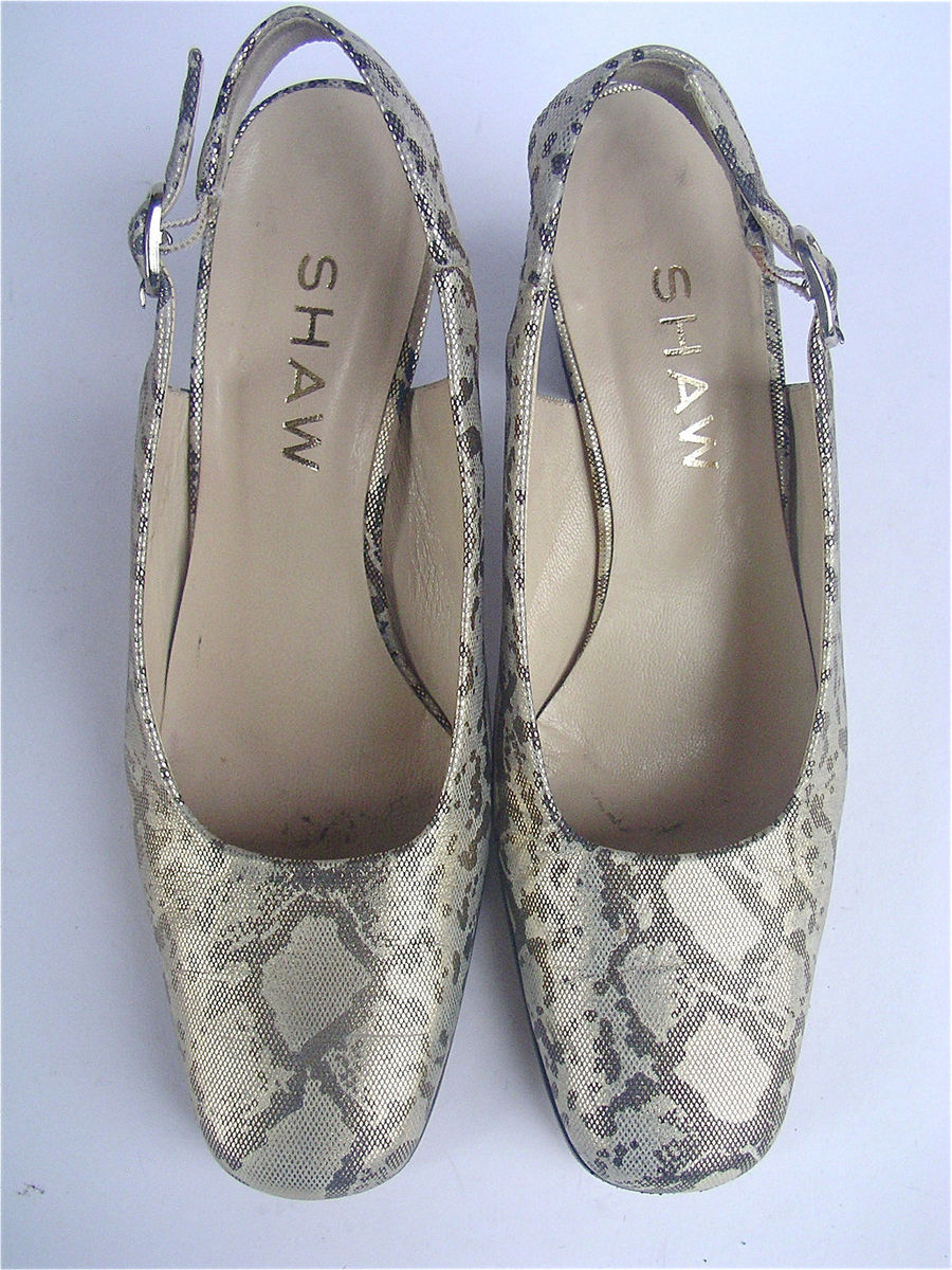 Vintage Gold Metallic Shoes Gold Leather Shoes Gold ...