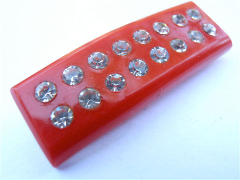 Vintage,Red,Rhinestone,Barrette,Kawaii,Studded,Cute,Japanese,Hair,Clip,Acrylic,Hard,Plastic,Accessory,Adornment,Collectible,Villacollezione,vintage red rhinestone kawaii barrette, vintage rhinestone studded red hair pin, vintage red barrette, vintage japanese red plastic hair clip, vintage kawaii red acrylic barrette, red plastic hair pin, red hair accessory adornment, villa collezione