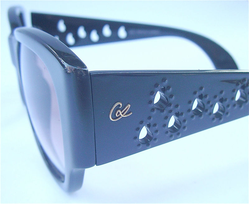 Vintage Christian Lacroix Sunglasses Rare Lacroix Sunglases Black Frame Sunglasses Designer Sungalasses Lacroix Black Sunglasses Black Lens - product images  of