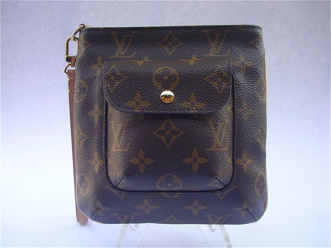 Authentic,Rare,Louis,Vuitton,Partition,Wristlet,Monogram,Leather,LV Partition wristlet, LV M51901, designer bag, signature bag, louis vuitton wristlet, lv monogram leather, rare louis vuitton bag, authentic louis vuitton bag, louis vuitton pouch, louis vuitton pouchette, louis vuitton wrist bag