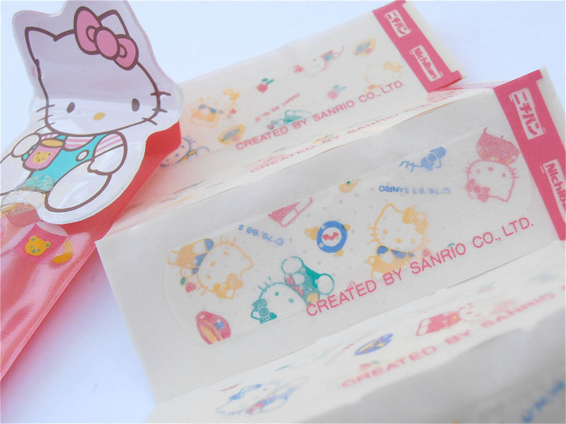 Vintage Hello Kitty Bandaids Sanrio Bandaids Kawaii Band Aids Red Sanrio Collectibles Red Plastic Pouch Hello Kitty Boo Boo Vintage Bandage - product images  of