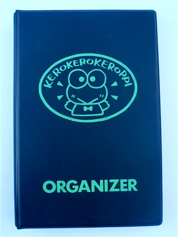 Vintage Keroppi Sanrio Binder Kerokerokeroppi Daily Planner Black Organizer Black Calendar Address Book Green Frog Journal Kawaii Diary - product images  of
