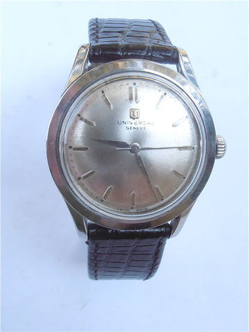 Vintage,70s,Universal,Geneve,Mechanical,Mens,Dress,Watch,Manual,Wind,vintage 70s universal geneve mechanical mens dress watch, vintage universal geneve manual watch, vintage geneve mens watch, vintage uniniversal geneve dress watch, vintage 70s swiss watch, vintage stainless steel watch, vintage manual wind mens watch