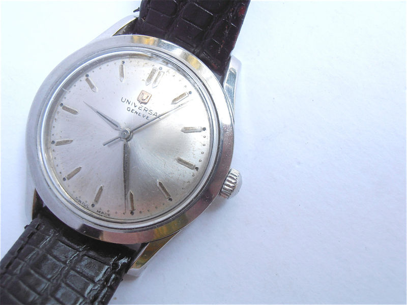 Vintage 70s Universal Geneve Mechanical Mens Dress Watch Vintage 70s Universal Geneve Manual Wind Watch Vintage Universal Geneve Mens Watch - product images  of