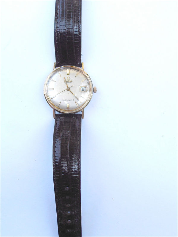 Vintage 70s Omega Seamaster Automatic Date Mens Dress Watch Vintage 70s Omega Seamaster Unishell Watch Vintage Omega Automatic Mens Watch - product images  of