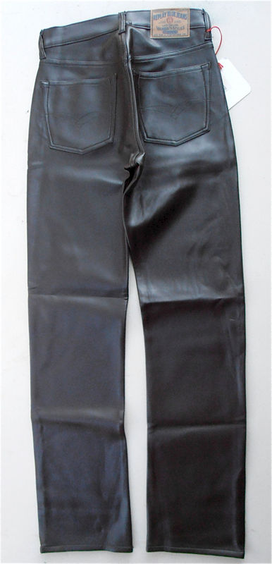 Vintage Replay Dark Brown Leatherette Pants Faux Leather Trousers Womens Slacks Size 7 W405 Womans High Waist Straight Leg 5 Pockets - product images  of