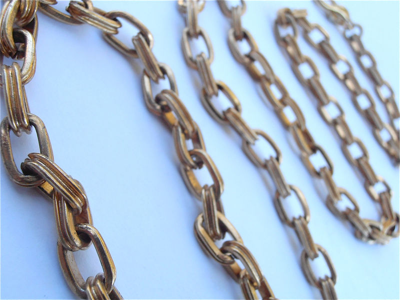 Vintage Gold Chain Belt Vintage Gold Tone Belt Vintage Oval Rolo Chain Link Vintage Gold Retro Hipster Belt Vintage Large Chain Link Belt - product images  of