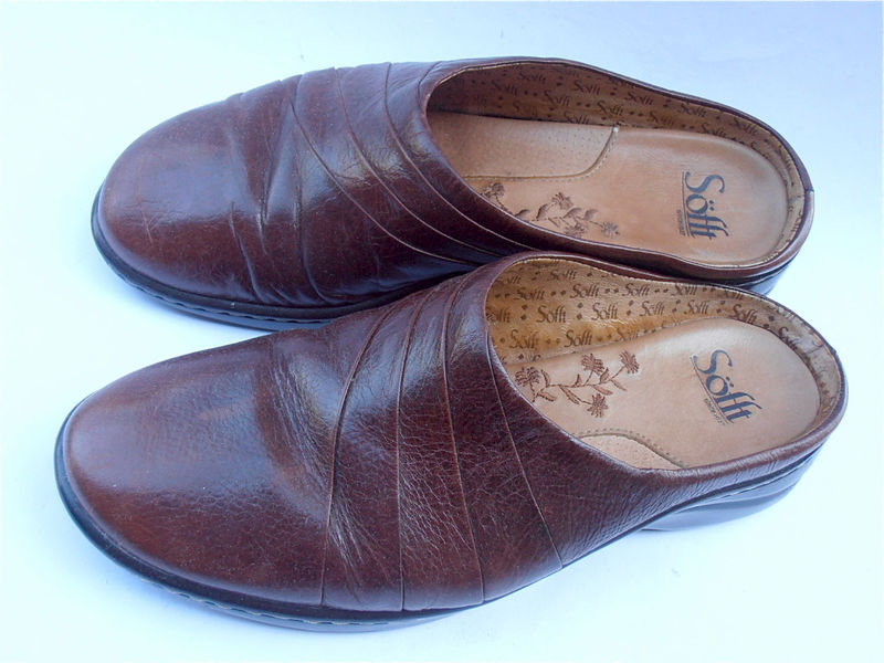 Vintage Brown Leather Shoes Vintage Leather Brown Shoes Vintage Ladies Brown Sandals Vintage Brown Ladies Softt Shoes Ladies Brown Flat Shoe - product images  of