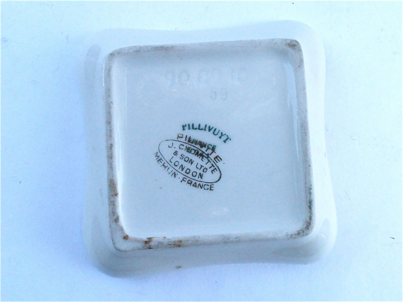Vintage Pillivuyt Porcelain Soap Tip Tray Ring Dish Trusthouse Forte Hotel The Shakespeare Souvenir J Chomette Pottery Pilvite Mehun France - product images  of
