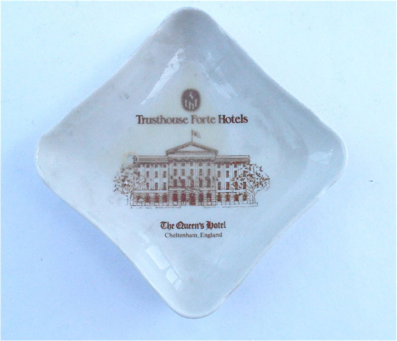 Vintage Soap Tip Tray Ring Dish Trusthouse Forte Hotel The Queens Hotel Souvenir Pillivuyt Porcelain J Chomette Pottery Pilvite Mehun France - product images  of