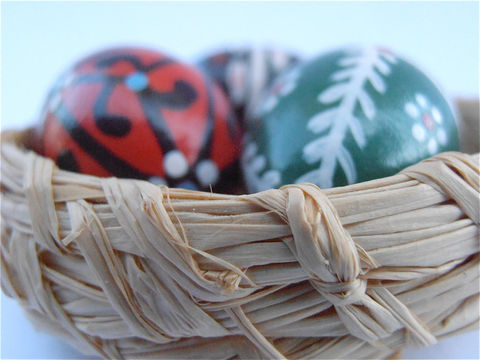 Vintage,Miniature,Easter,Eggs,Straw,Basket,Wooden,Red,Black,Green,Painted,Figurines,Mini,Wood,New,Beginnings,Christening,Baptismal,Baptism,Baby,vintage miniature wooden egg figurine, vintage wooden easter painted eggs, vintage easter straw basket, vintage wooden red egg, vintage wooden black egg, vintage wooden green egg, mini wood painted eggs, new beginnings, baptismal christening egg